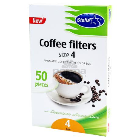 Սուրճի ֆիլտր «Stella N4» 50 հատ