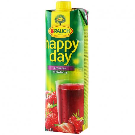 Հյութ բնական «Happy Day» ելակ 1լ