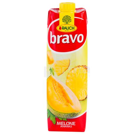 Հյութ բնական «Bravo» արքայախնձոր, սեխ 1լ
