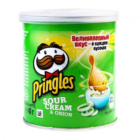 Չիպս «Pringles» թթվասեր, սոխ 40գ