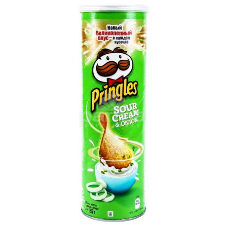 Չիպս «Pringles» թթվասեր, սոխ 165գ