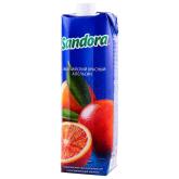Հյութ բնական «Sandora» կարմիր նարինջ 1լ