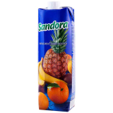 Հյութ բնական «Sandora» մուլտիվիտամինային 1լ