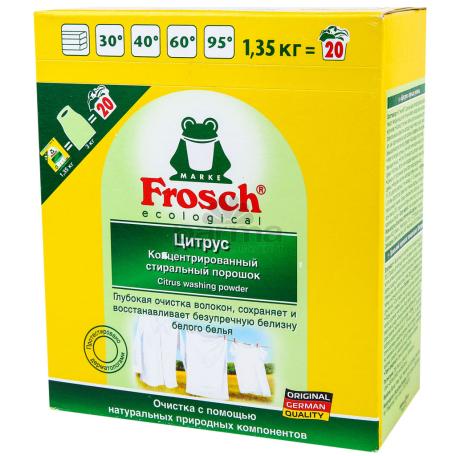 Փոշի լվացքի «Frosch» ցիտրուս, սպիտակ 1.35կգ