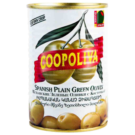 Ձիթապտուղ «Coopoliva» կանաչ 405գ