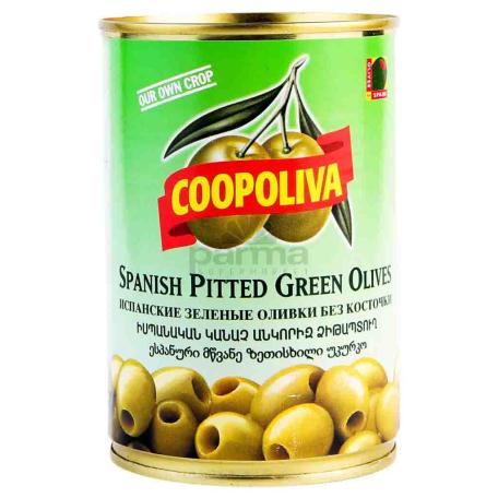 Ձիթապտուղ «Coopoliva» կանաչ, անկորիզ 385գ