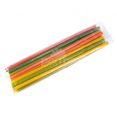 Մեկանգամյա օգտագործման ձողիկներ «Օվալ Պլաստիկ» գունավոր 20 հատ