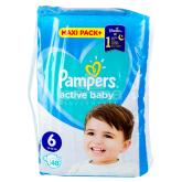 Տակդիրներ «Pampers Active Baby» №6 13-18 կգ