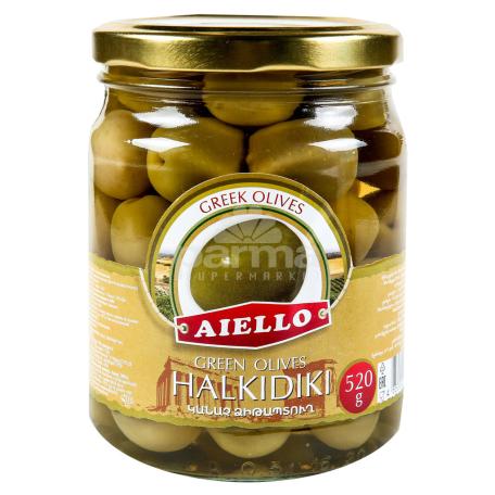 Ձիթապտուղ «Աիելո Halkidiki» կանաչ 520գ