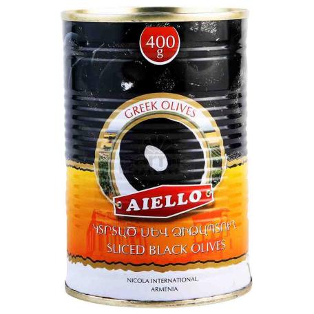 Ձիթապտուղ «Աիելո» սև, կտրտած 400գ