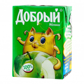 Հյութ բնական «Добрый» խնձոր 200մլ