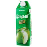 Հյութ բնական «Добрый» խնձոր 1լ