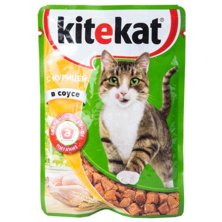 Կատվի խոնավ կեր «Kitekat» հավ 85գ