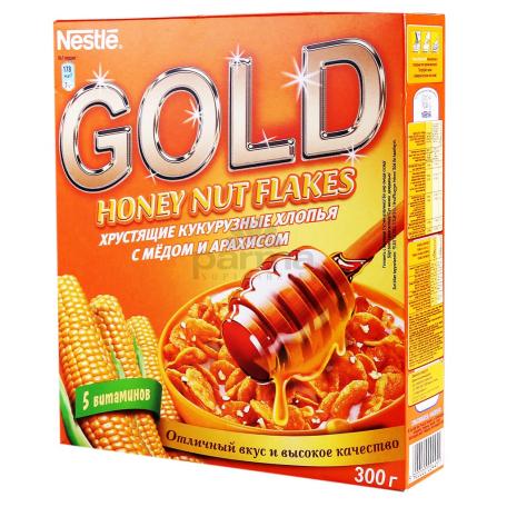 Փաթիլներ եգիպտացորենի «Nestle Gold» մեղրով, գետնանուշով 300գ