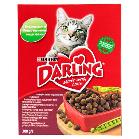 Կատվի կեր «Darling» մսով,  բանջարեղենով 300գ