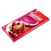 Շոկոլադե սալիկ «Nestle» նուշ, չամիչ 90գ
