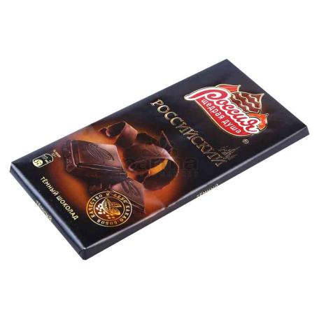 Շոկոլադե սալիկ «Россия» մուգ շոկոլադ 90գ