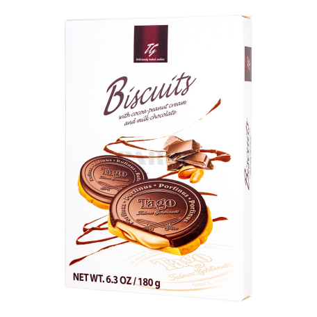 Թխվածքաբլիթ «Tago» շոկոլադով, գետնանուշով 180գ