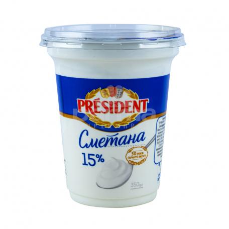 Թթվասեր «President» 15% 350գ