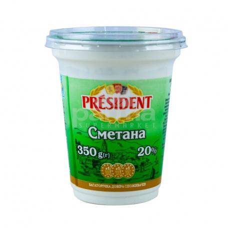 Թթվասեր «President» 20% 350գ