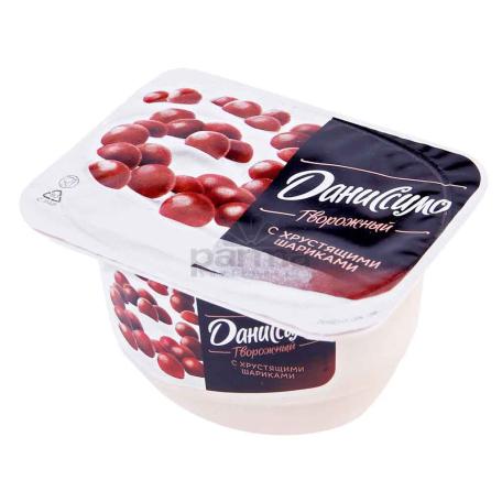 Յոգուրտ կաթնաշոռային «Danone Даниссимо» շոկոլադե գնդիկներ 7.2% 130գ