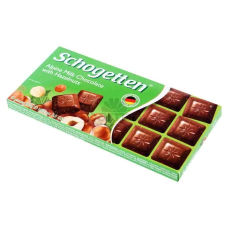 Շոկոլադե սալիկ «Schogetten» ընկույզով 100գ