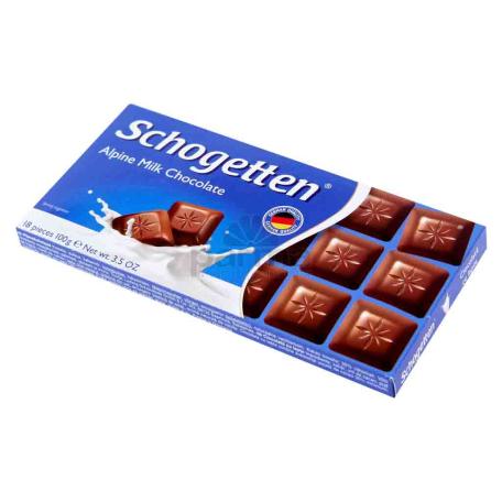 Շոկոլադե սալիկ «Schogetten» կաթնային շոկոլադ 100գ