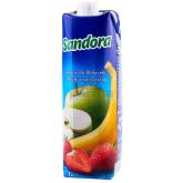 Հյութ բնական «Sandora Mix» ելակ, խնձոր, բանան 950մլ