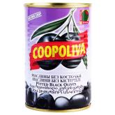 Ձիթապտուղ «Coopoliva» սև, անկորիզ 385գ