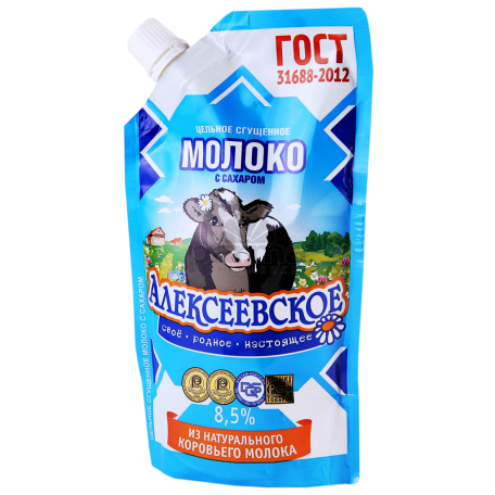 Խտացրած կաթ «Алексеевское» 8.5% 270գ