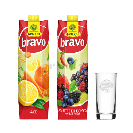 Հյութ բնական «Bravo» 2 հատ+1 բաժակ