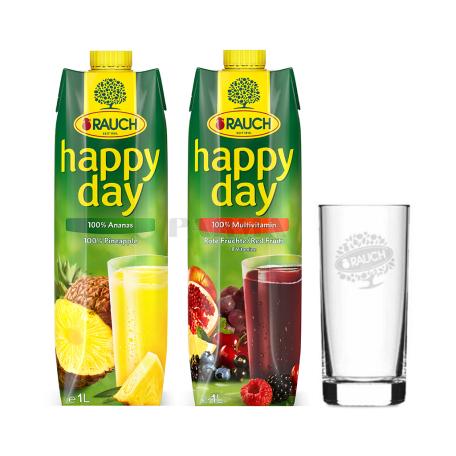 Հյութ բնական «Happy Day» 2 հատ+1 բաժակ