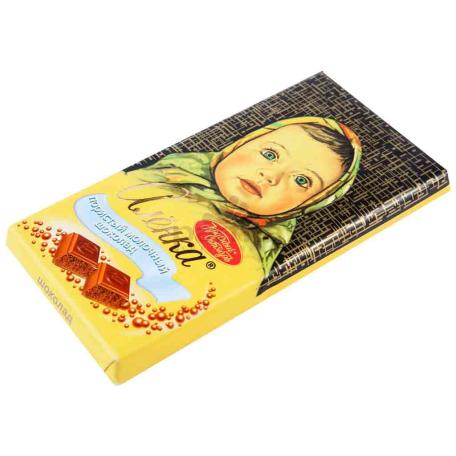 Շոկոլադե սալիկ «Аленка» ծակոտկեն, կաթնային 100գ