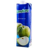 Հյութ բնական «Sandora» կանաչ խնձոր 1լ