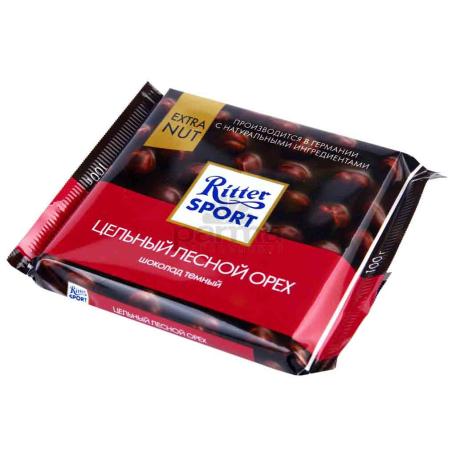Շոկոլադե սալիկ «Ritter Sport» պնդուկ 100գ