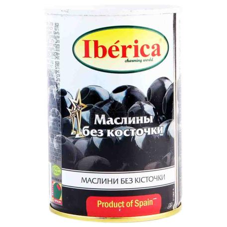 Ձիթապտուղ «Iberica» սև, անկորիզ 420գ