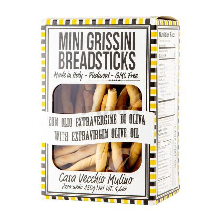 Հացիկ «Casa Vecchio Mini Grissini» ձիթապտղի յուղով 130գ