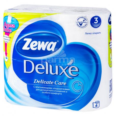 Զուգարանի թուղթ «Zewa Deluxe» 4 հատ սպիտակ