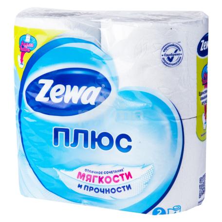 Զուգարանի թուղթ «Zewa Plus» սպիտակ 4 հատ