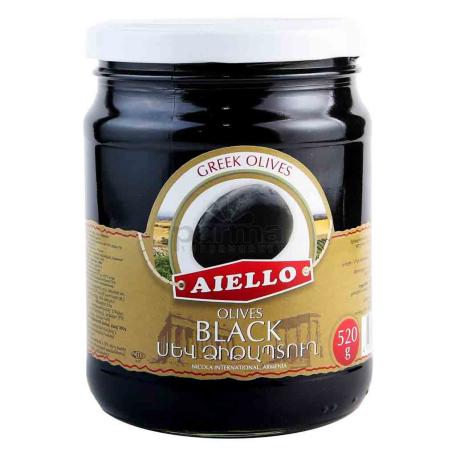 Ձիթապտուղ «Աիելո» սև 520գ