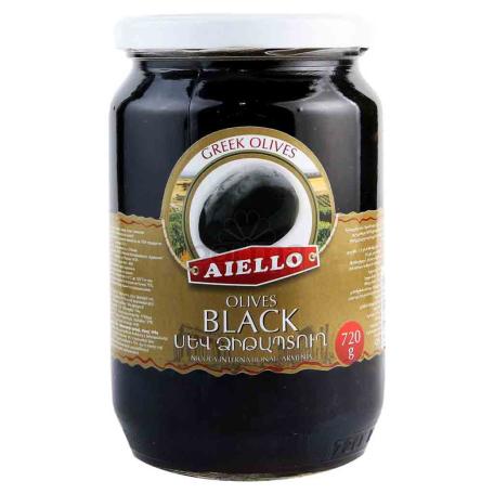 Ձիթապտուղ «Աիելո Alfonso» սև 720գ