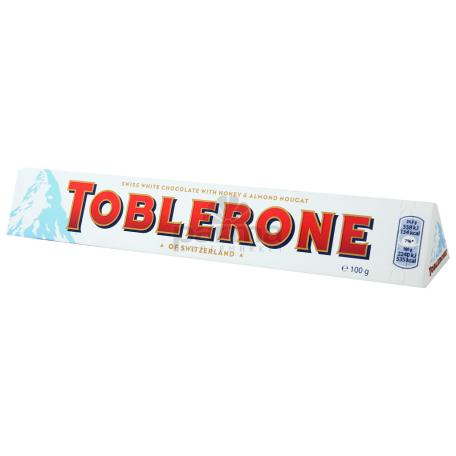 Շոկոլադե սալիկ «Toblerone» սպիտակ 100գ