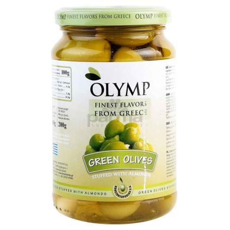 Ձիթապտուղ «Olymp» կանաչ, նուշով 200գ