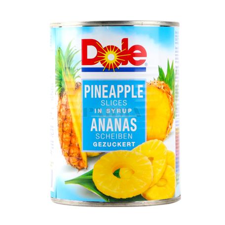 Պահածոյացված արքայախնձոր «Dole» օղակներ 567գ
