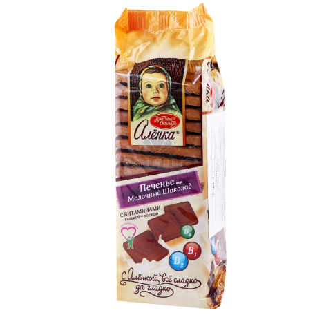 Թխվածքաբլիթ «Аленка» կաթնային շոկոլադ 190գ