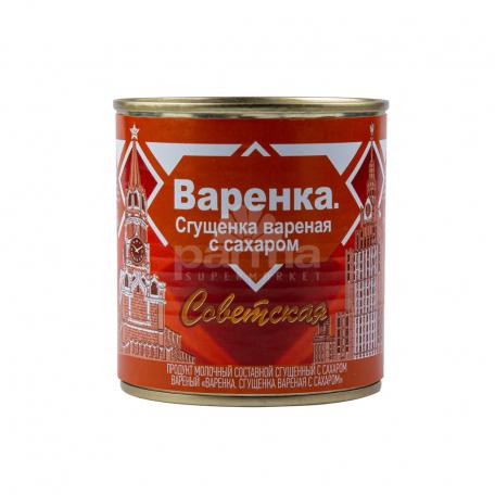 Խտացրած կաթ «Советская» եփած, շաքարով 370գ
