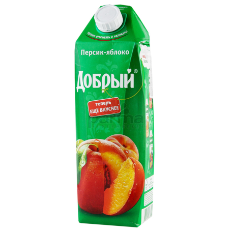 Հյութ բնական «Добрый» խնձոր, դեղձ 1լ