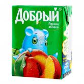 Հյութ բնական «Добрый» դեղձ, խնձոր 200մլ