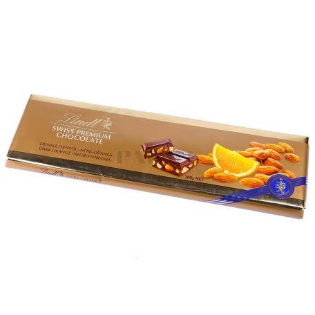 Շոկոլադե սալիկ «Lindt Swiss Premium» դառը 300գ