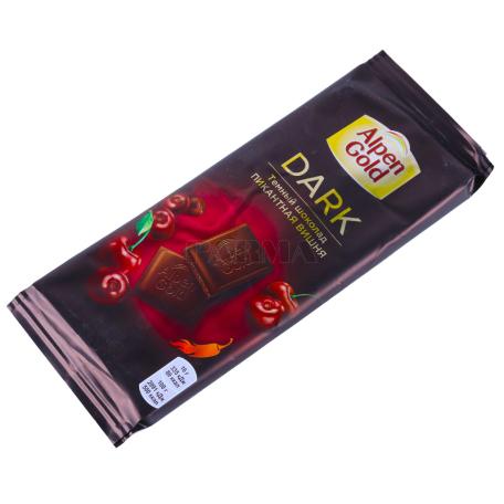 Շոկոլադե սալիկ «Alpen Gold» մուգ, բալ 80գ